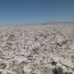 Endless salt flats in the Atacama Desert worse than coral for running Camo