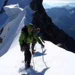 The Rocheforte Arete on theunbelieveable knife edge ridge