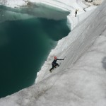 french alps camo learning to climb ice on the mer de glace