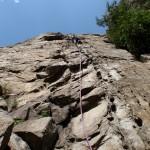 italian alps vertical but an easy climb